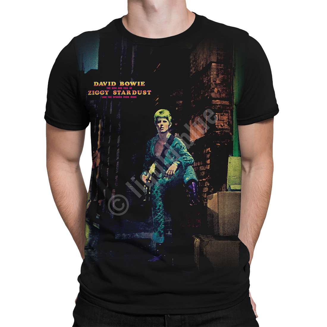 Ziggy Stardust Black Athletic T-Shirt