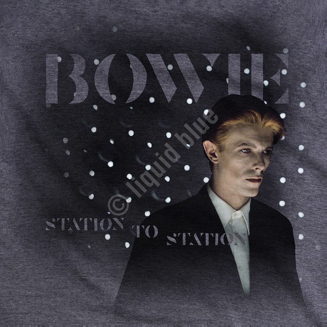 Station to Station Dark Heather Poly-Cotton T-Shirt