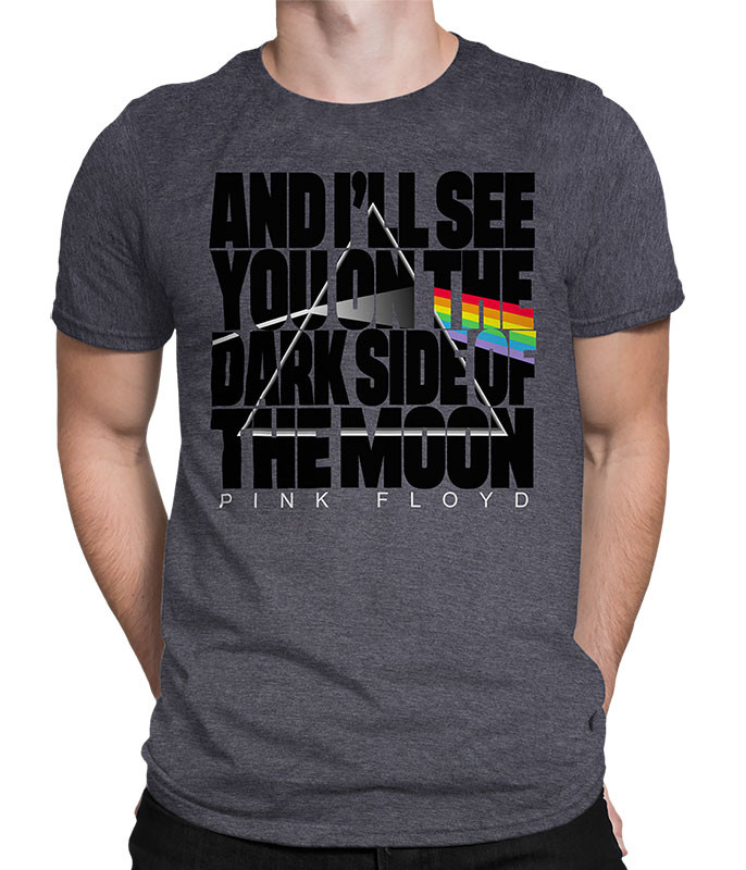 THE DARK SIDE DARK HEATHER POLY-COTTON T-SHIRT