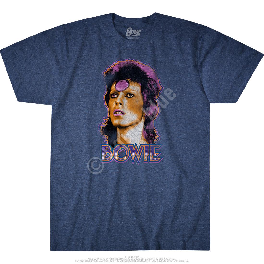 Ziggy Medallion Dark Blue Heather Poly-Cotton T-Shirt