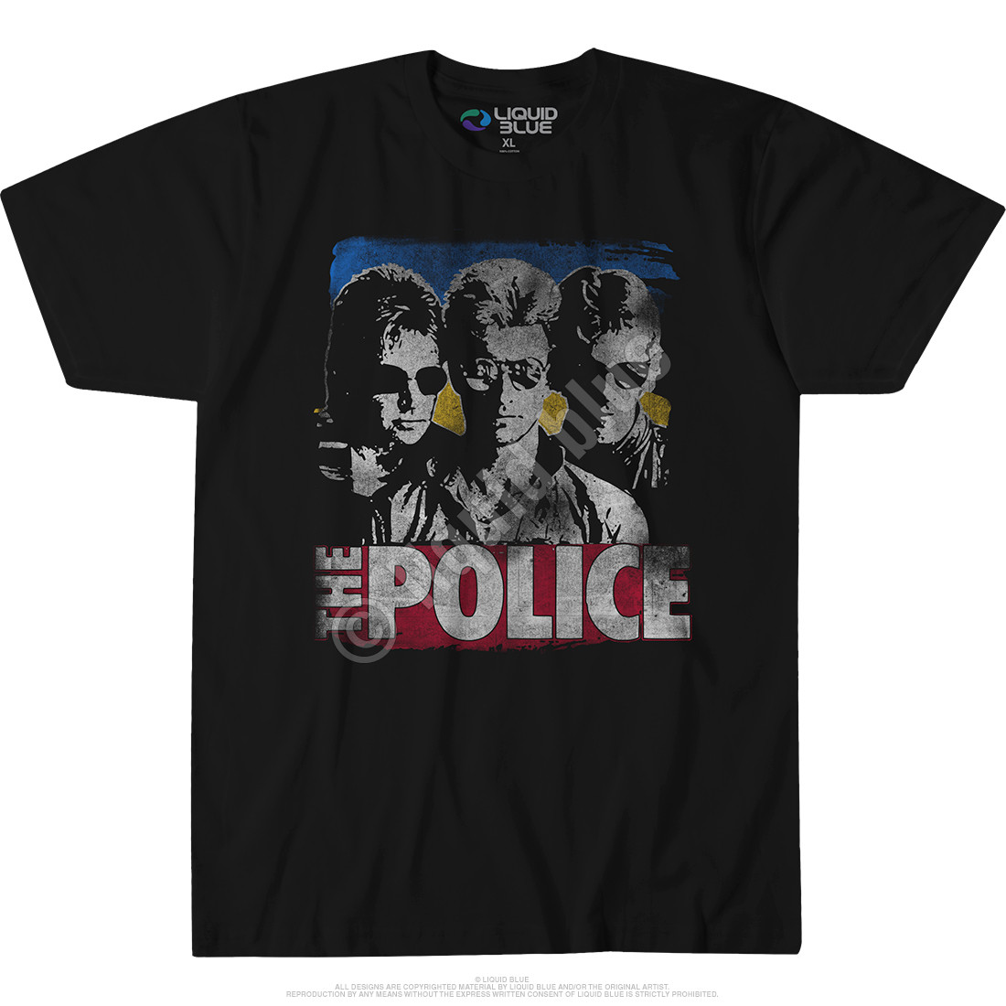 The Police Greatest Hits Black Athletic T-Shirt