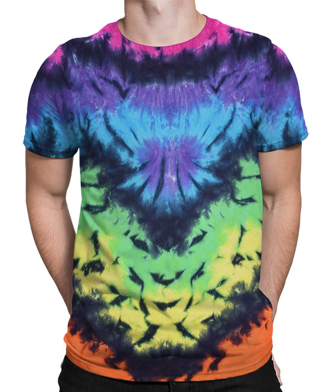 Butterfly Krinkle Unprinted Tie-Dye T-Shirt Tee Liquid Blue