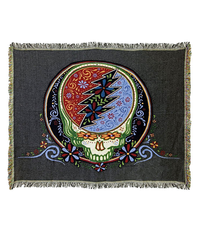 Grateful Dead GD Calaveras Stealie Woven Blanket