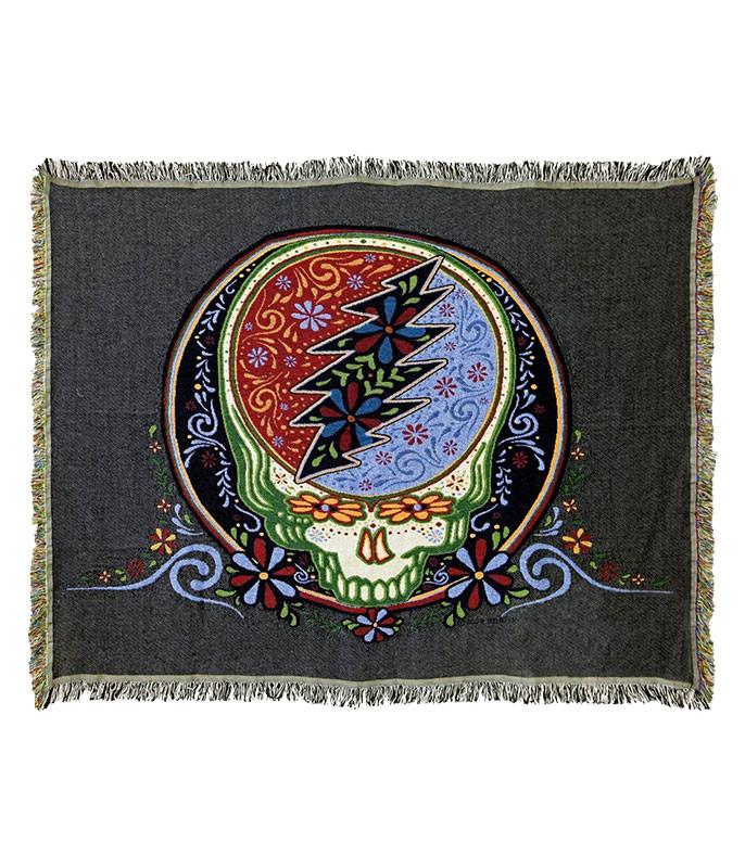 Grateful Dead GD Calaveras Stealie Woven Blanket