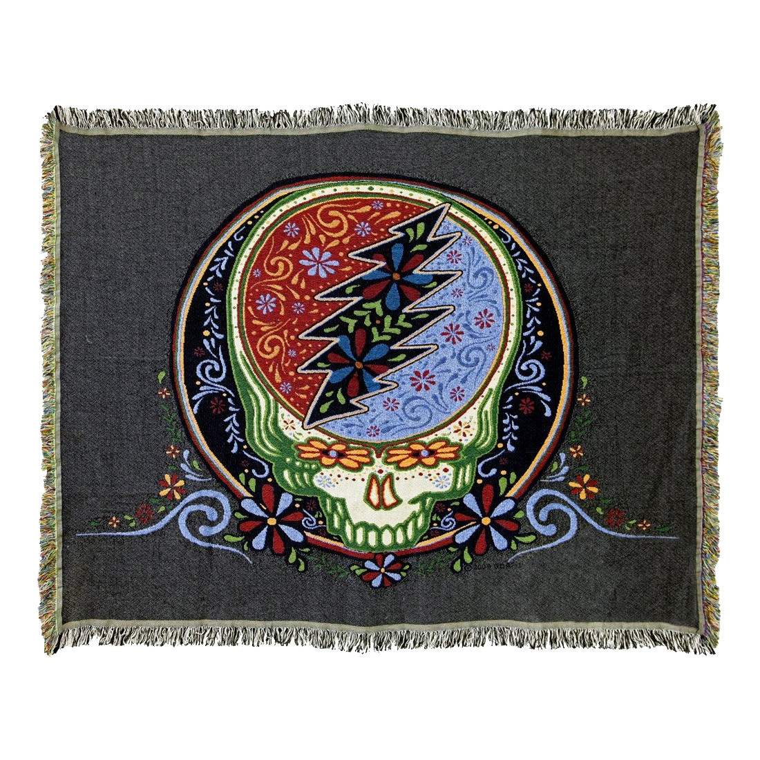 GD Calaveras Stealie Woven Blanket