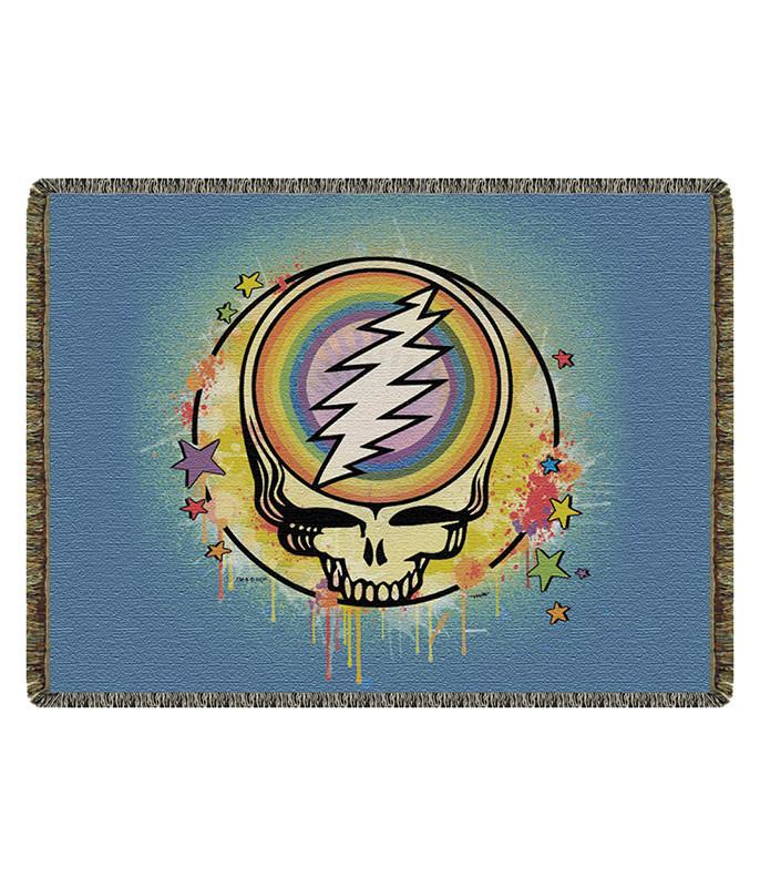 Grateful Dead GD Rainbow Splatter Woven Blanket