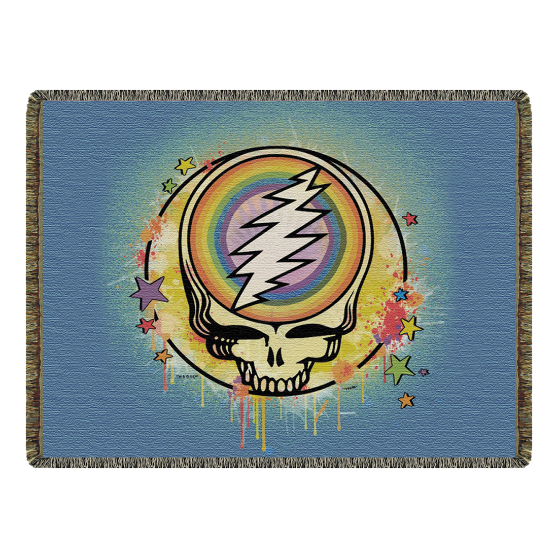 GD Rainbow Splatter Woven Blanket