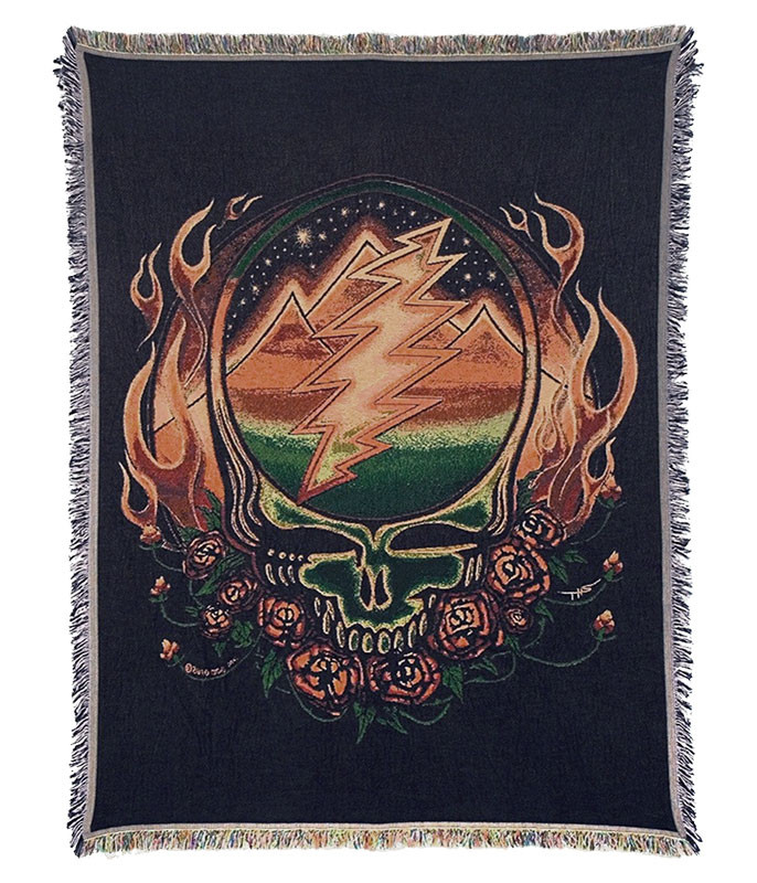 Grateful Dead GD Scarlet Fire Woven Blanket