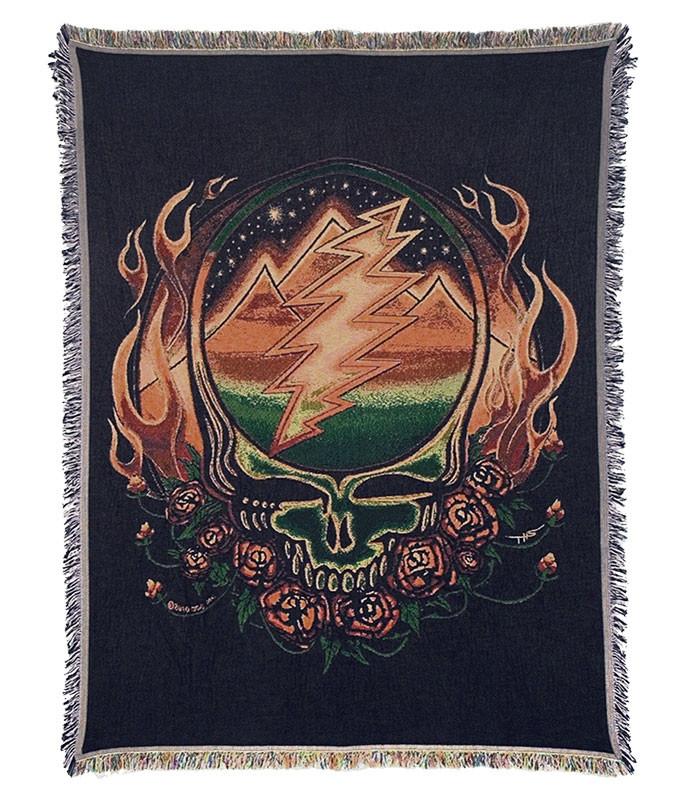 Grateful Dead GD Scarlet Fire Woven Blanket