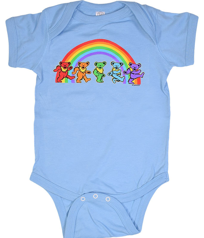 GD Rainbow Bears Blue Onesie