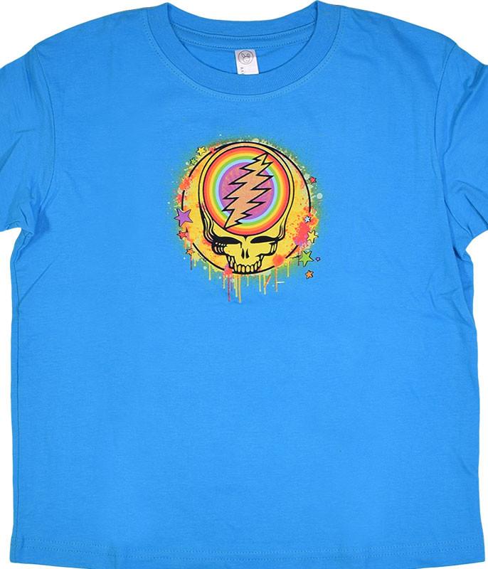 GD Rainbow Splatter Blue Toddler T-Shirt Tee