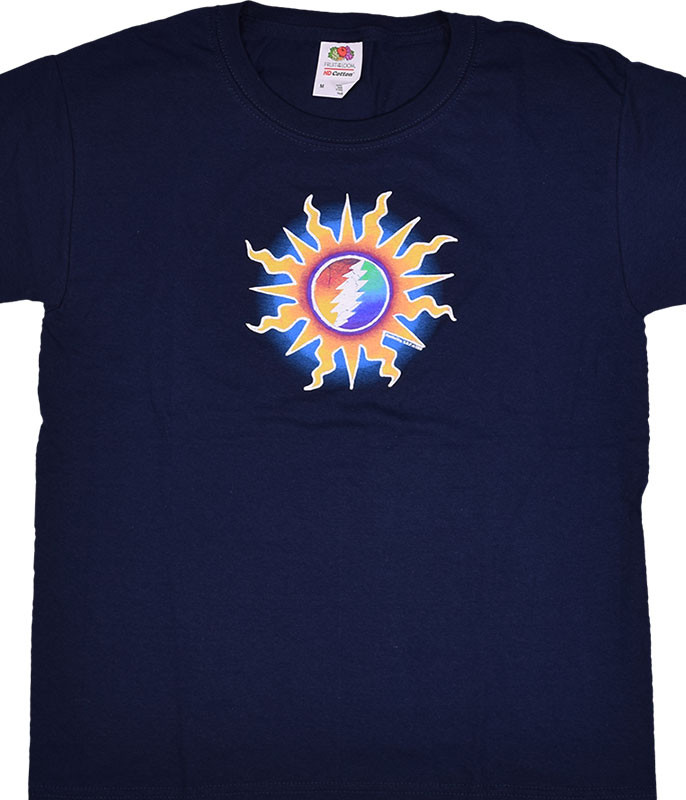 Grateful Dead GD Sunshine Lightning Navy Youth T-Shirt Tee