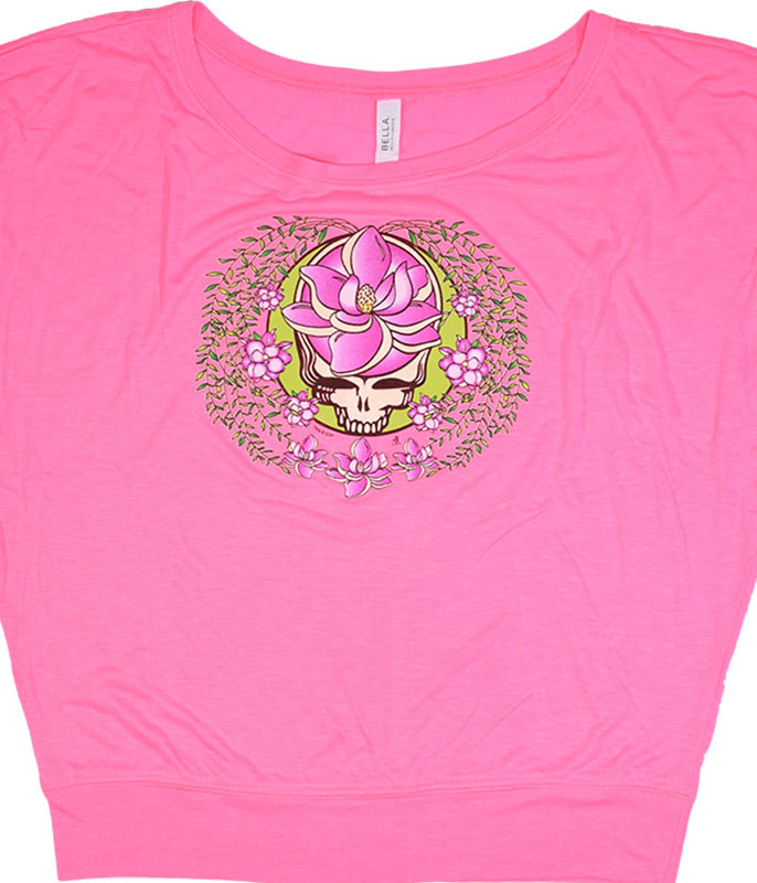 Grateful Dead GD Sugar Magnolia SYF Womens Pink Flowy Long Sleeve T-Shirt Tee