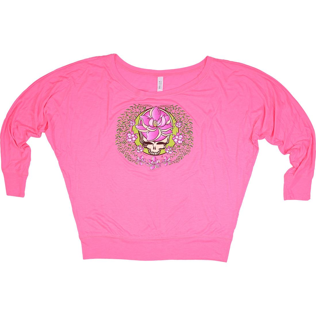 GD Sugar Magnolia SYF Womens Pink Flowy Long Sleeve T-Shirt