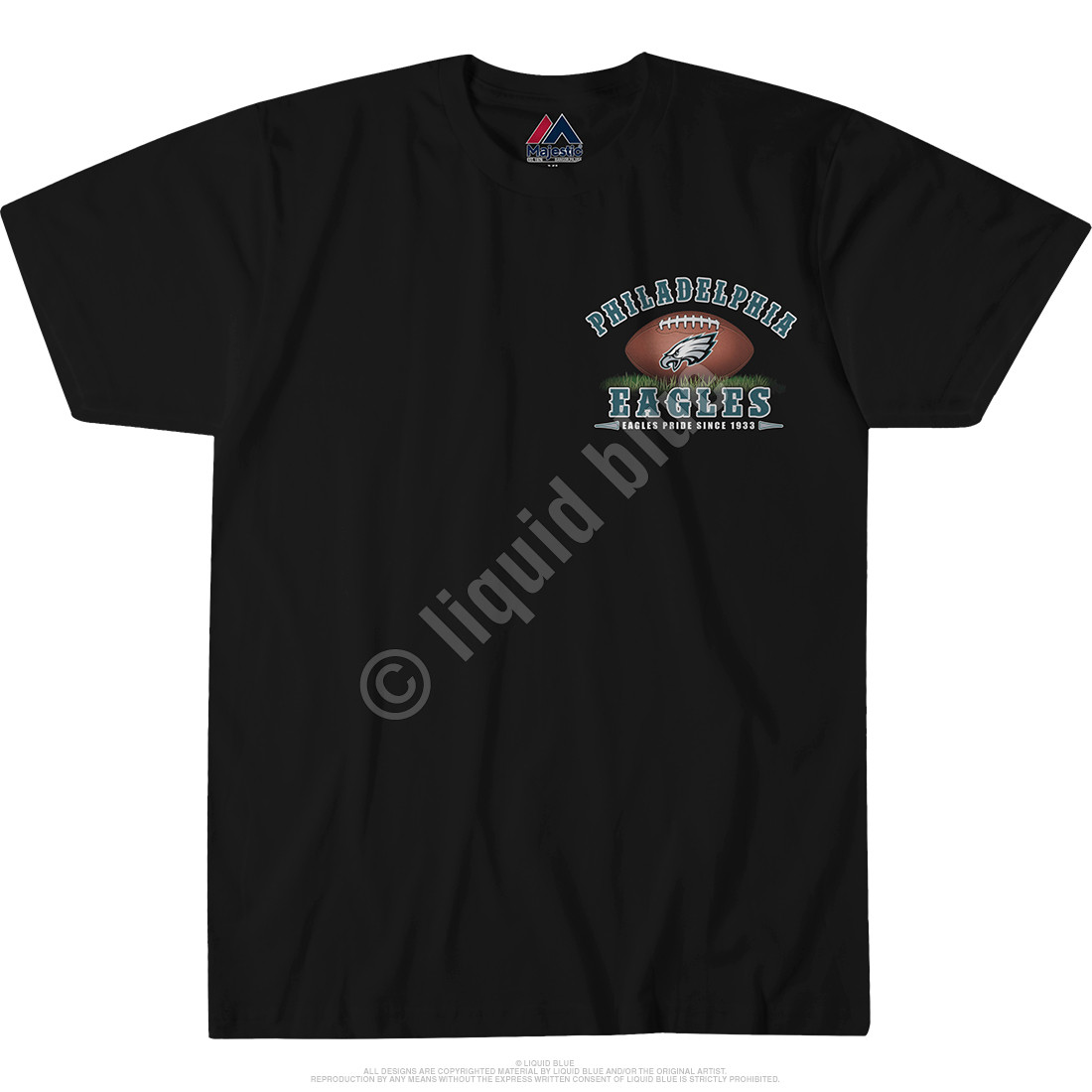 Philadelphia Eagles End Zone Black T-Shirt