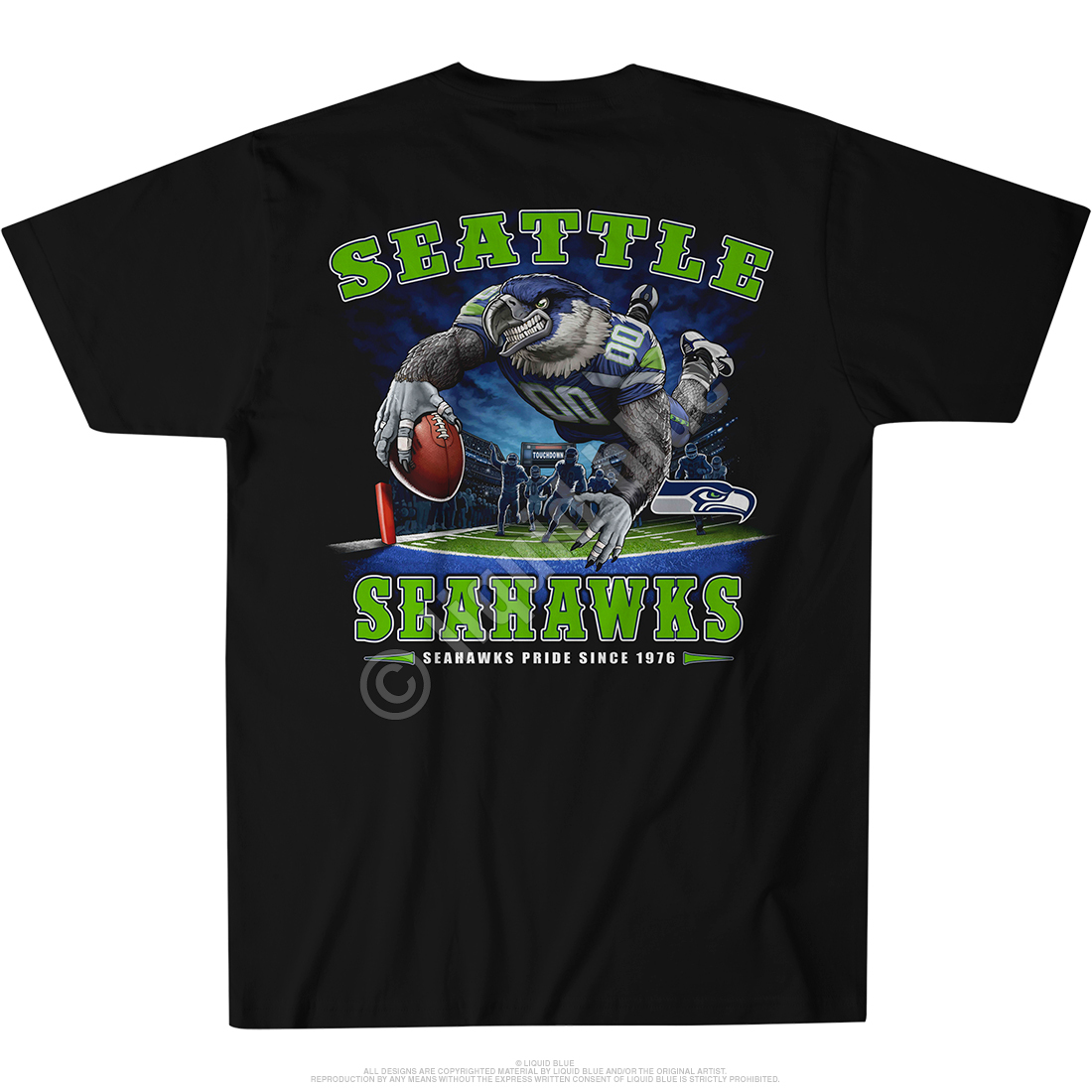 Seattle Seahawks End Zone Black T-Shirt