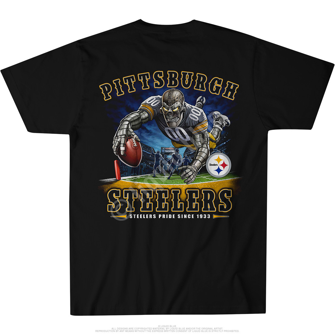 Pittsburgh Steelers End Zone Black T-Shirt