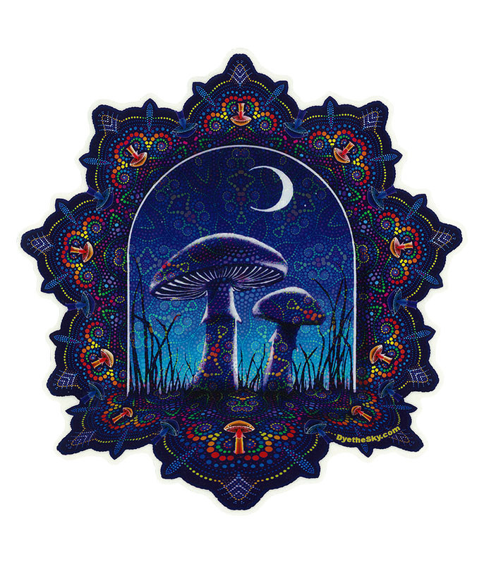 Light Fantasy Mushroom Mandala Sticker