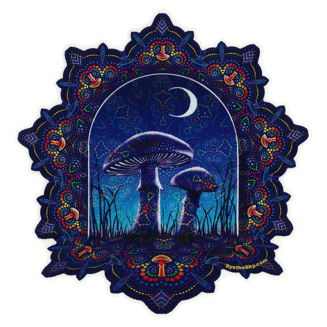 Mushroom Mandala Sticker
