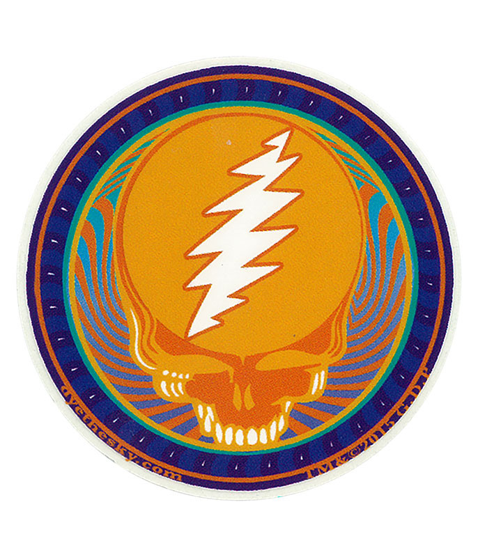 Grateful Dead GD Orange Sunshine Mini Sticker