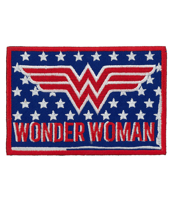 Wonder Woman Retro Patch Liquid Blue