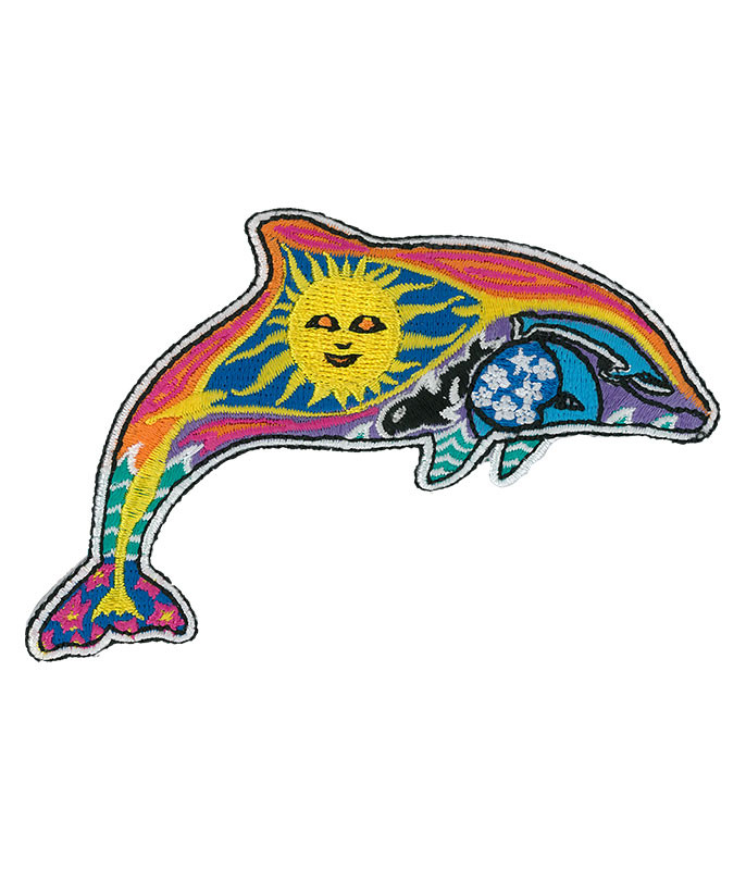 Night Day Dolphin Patch