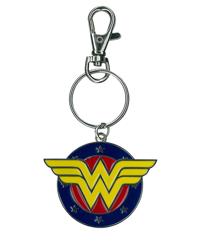 Wonder Woman Metal Keychain Liquid Blue