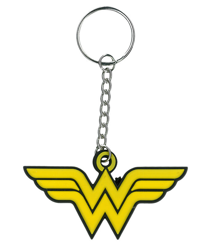 Wonder Woman Rubber Keychain Liquid Blue