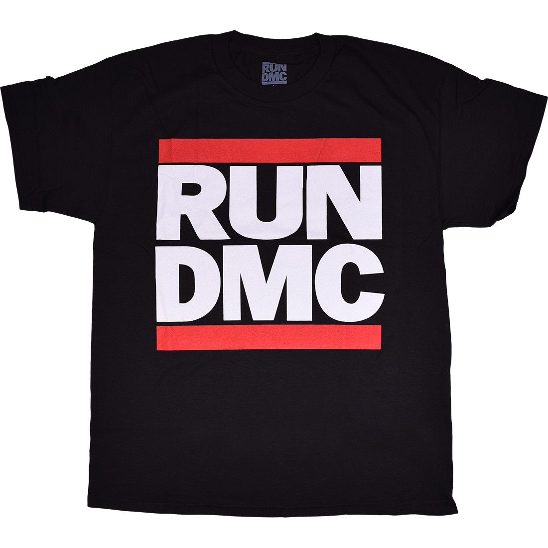 RUN DMC Classic Logo Black T-Shirt