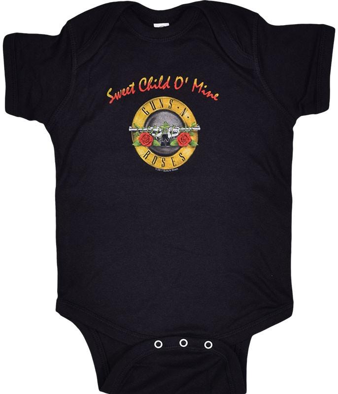GNR Sweet Child Black Onesie