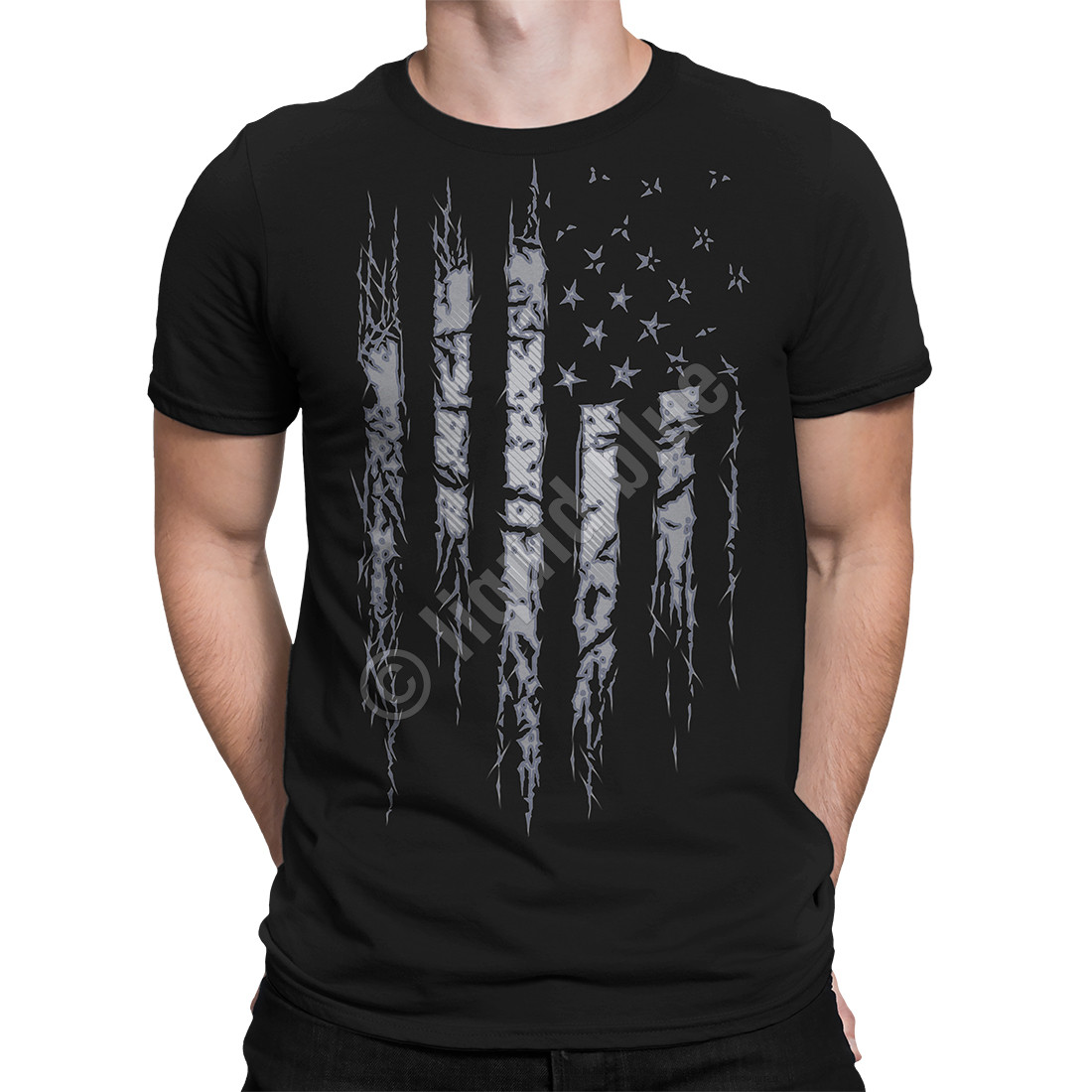 Tattered and Torn Black T-Shirt