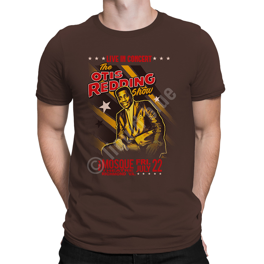 Mosque Theatre Brown Athletic T-Shirt