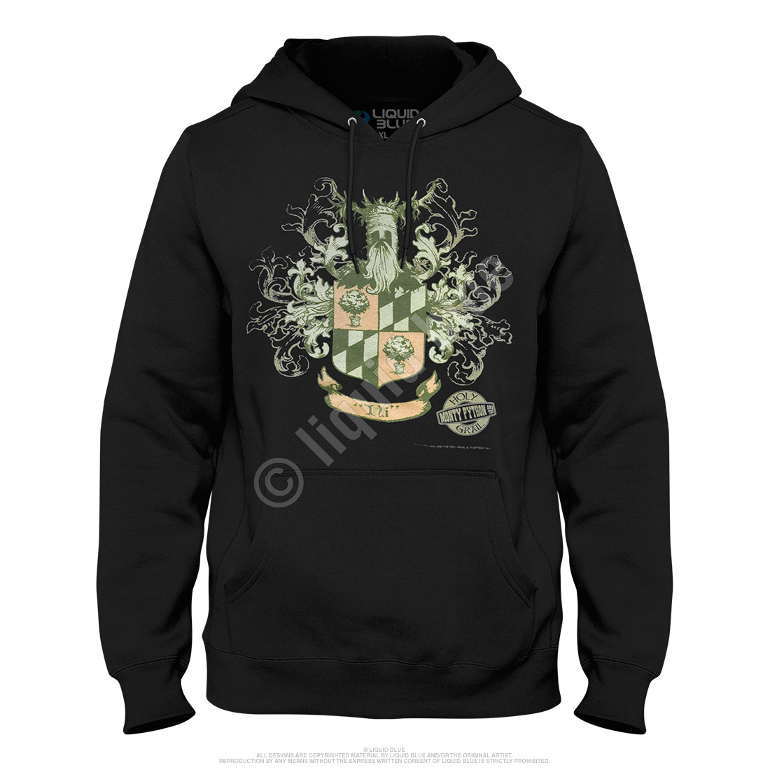 Knights of Ni Crest Black Hoodie