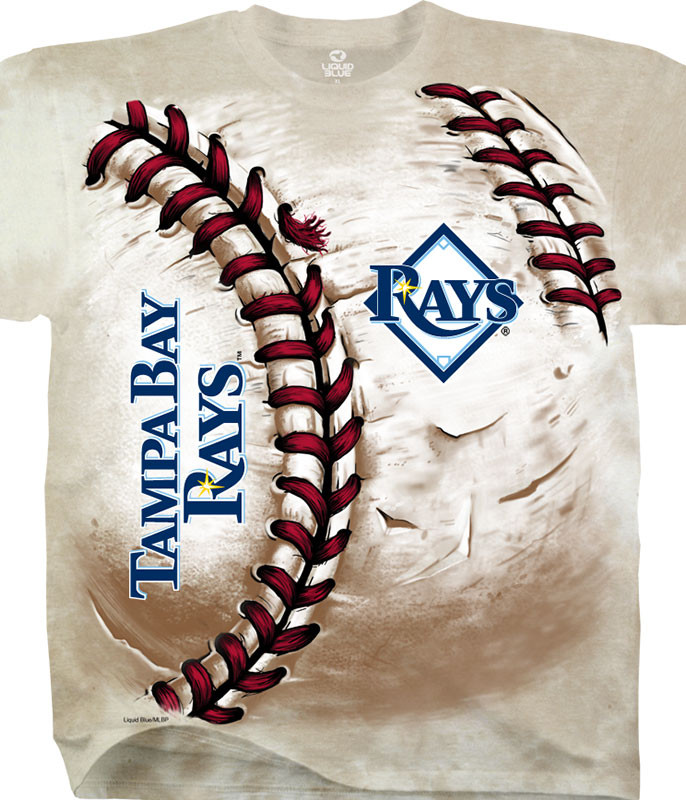 MLB Tampa Bay Rays Hardball Tie-Dye T-Shirt Tee Liquid Blue