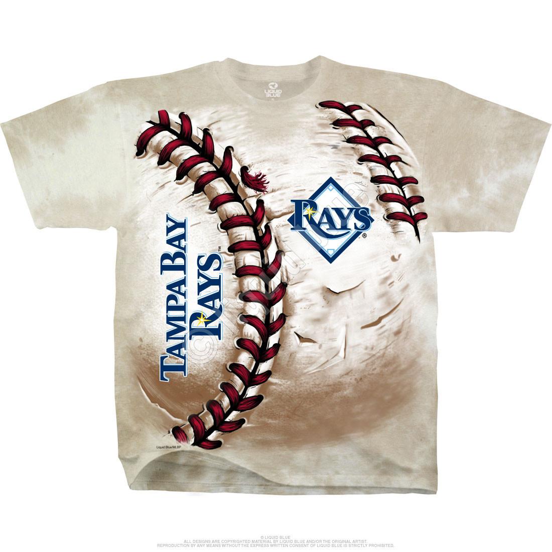 Tampa Bay Rays Hardball Tie-Dye T-Shirt