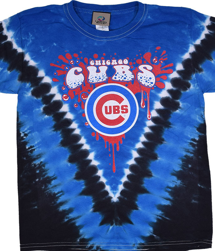 Chicago Cubs Youth Throwback Tie-Dye T-Shirt