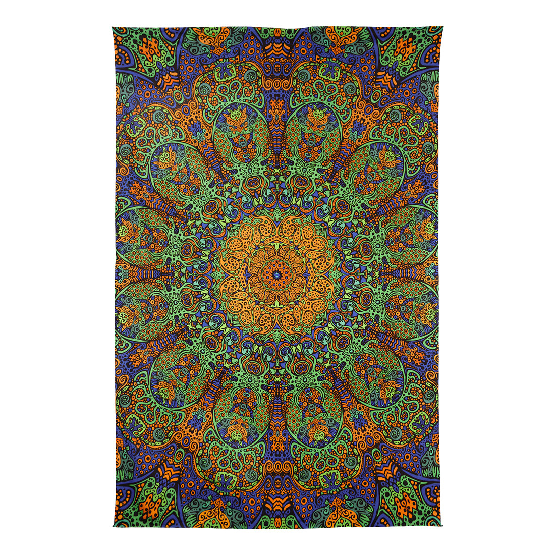 Green Sunburst 3D Tapestry