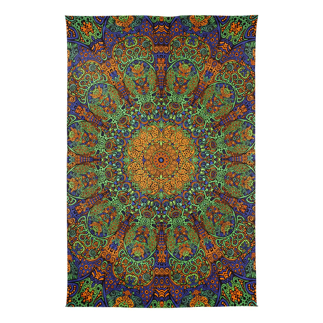 Green Sunburst 3D Tapestry