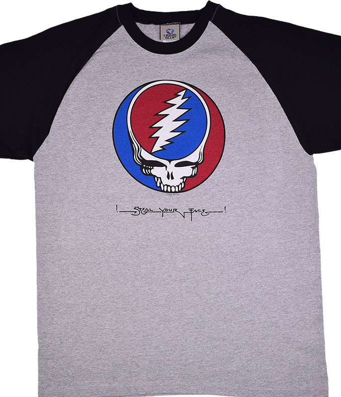 Grateful Dead SYF Raglan Heather T-Shirt Tee Tee Liquid Blue