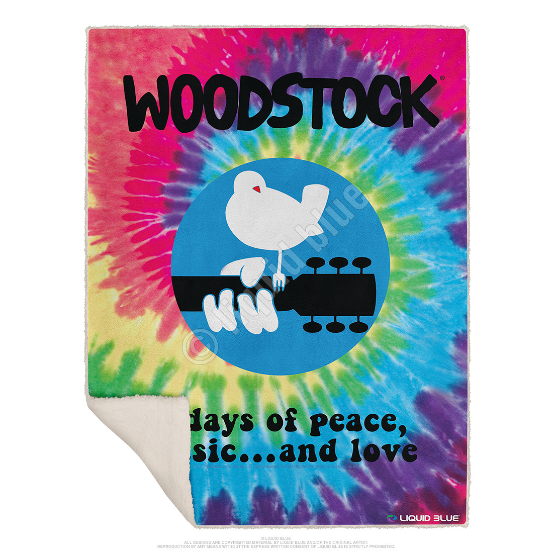 Woodstock Spiral Fleece Throw Blanket