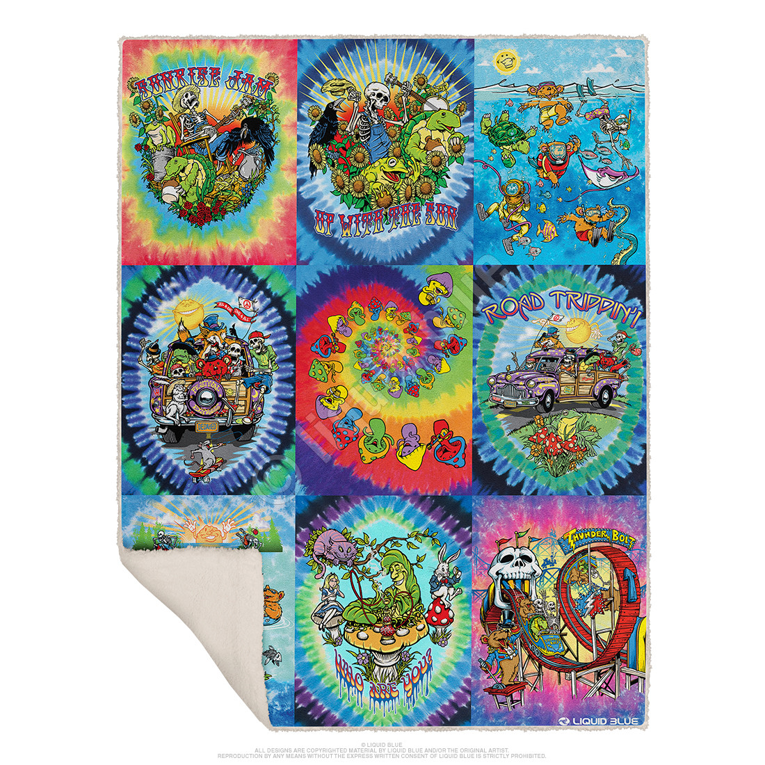 Light Fantasy Collection Fleece Throw Blanket
