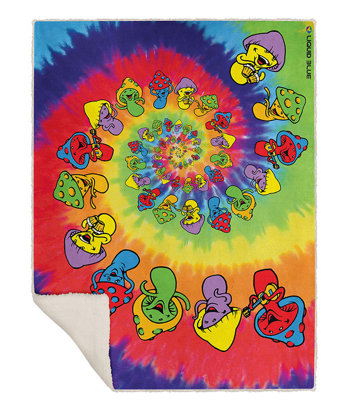 SPIRAL SHROOMS FLEECE THROW BLANKET