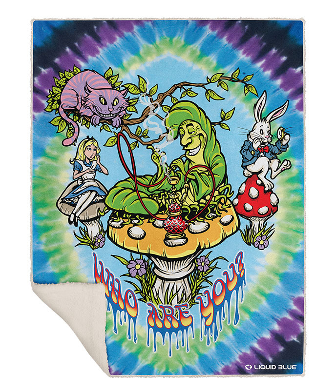 All Mad Here Fleece Throw Blanket