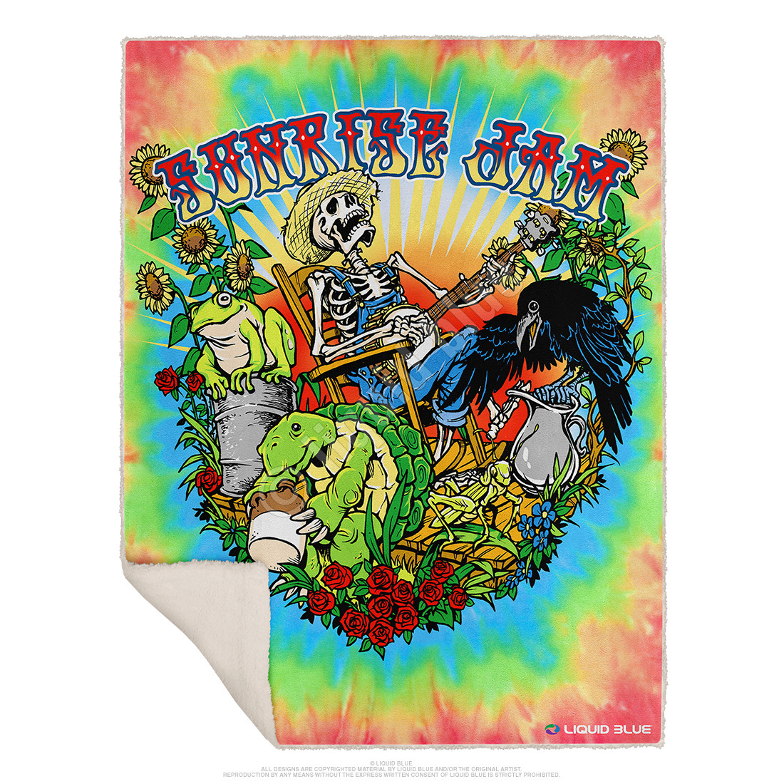 Sunrise Jam Fleece Throw Blanket