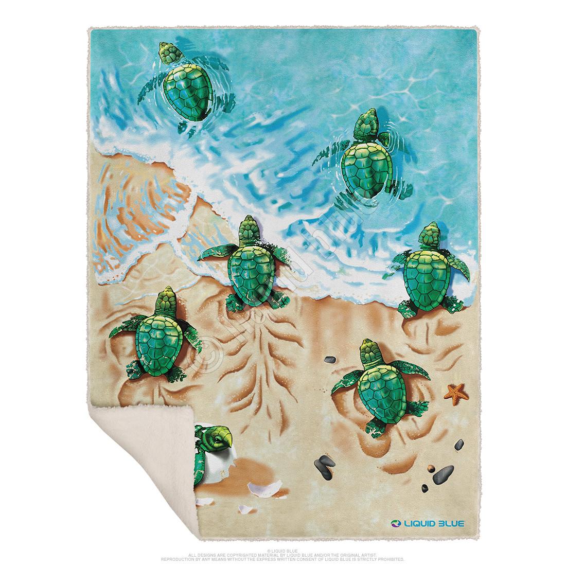 Turtle Beach Fleece Throw Blanket