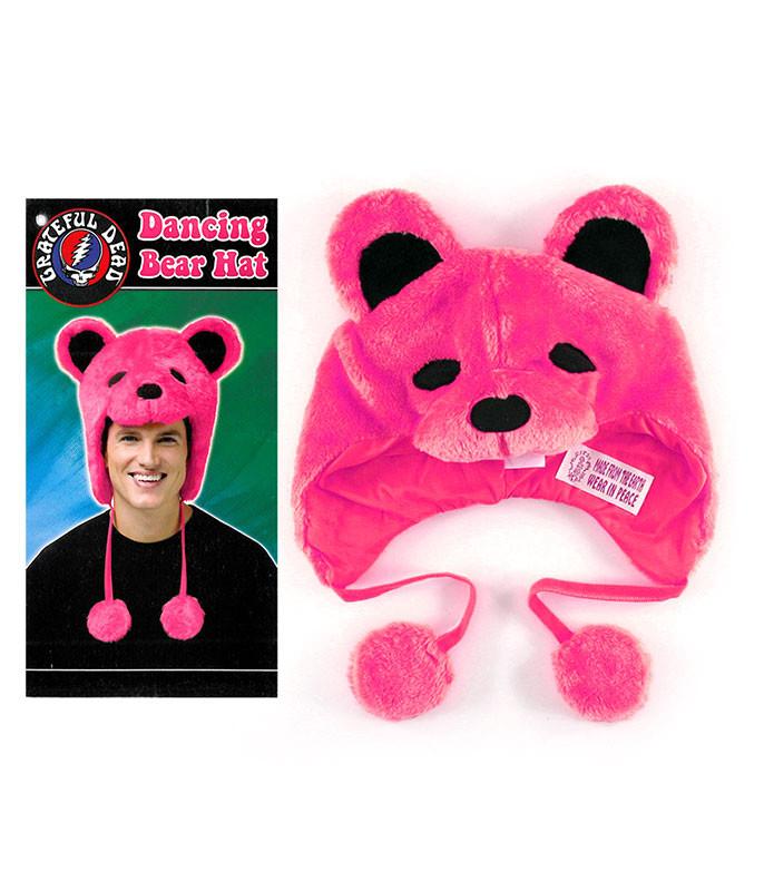 Grateful Dead GD Dancin Bear Pink Hat