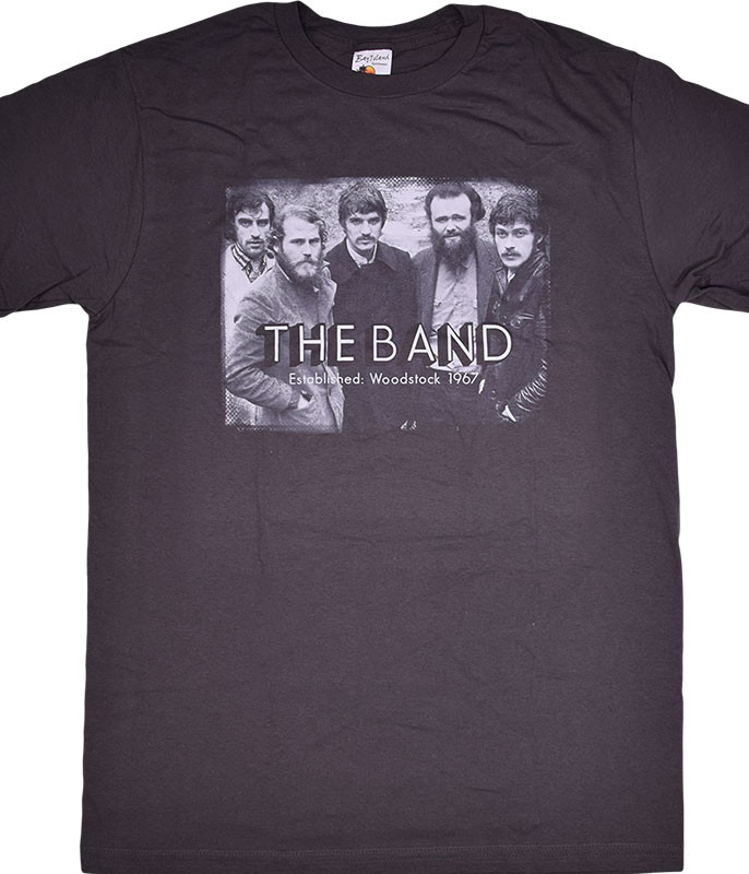 The Band Woodstock Photo Grey T-Shirt Tee