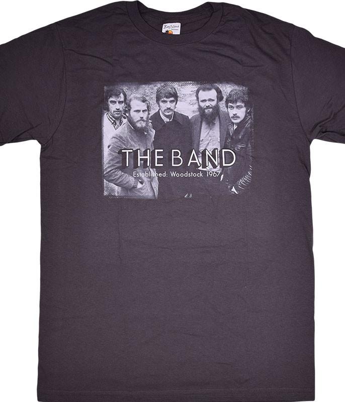 The Band Woodstock Photo Grey T-Shirt Tee