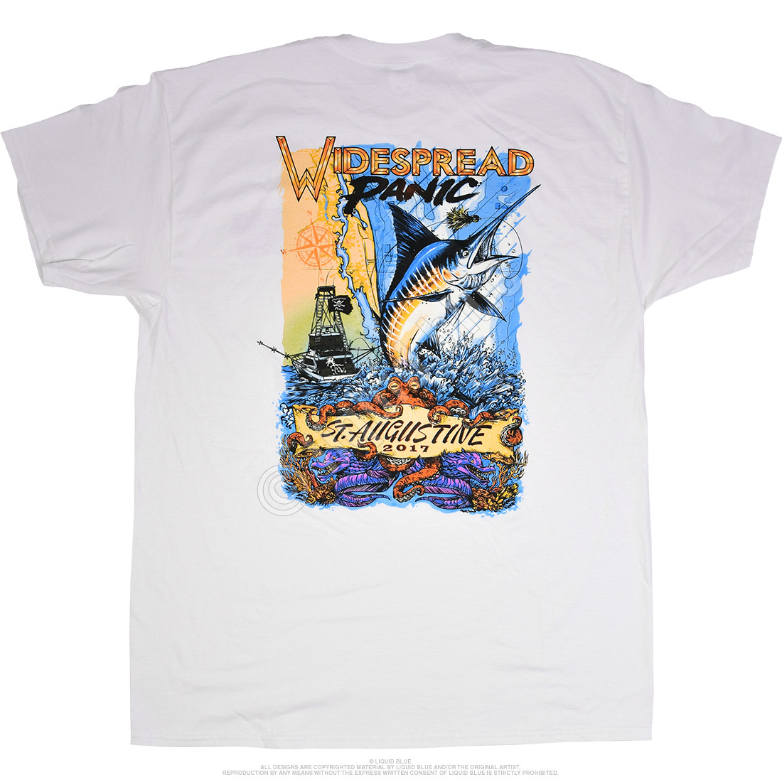 Widespread Panic St. Augustine White T-Shirt