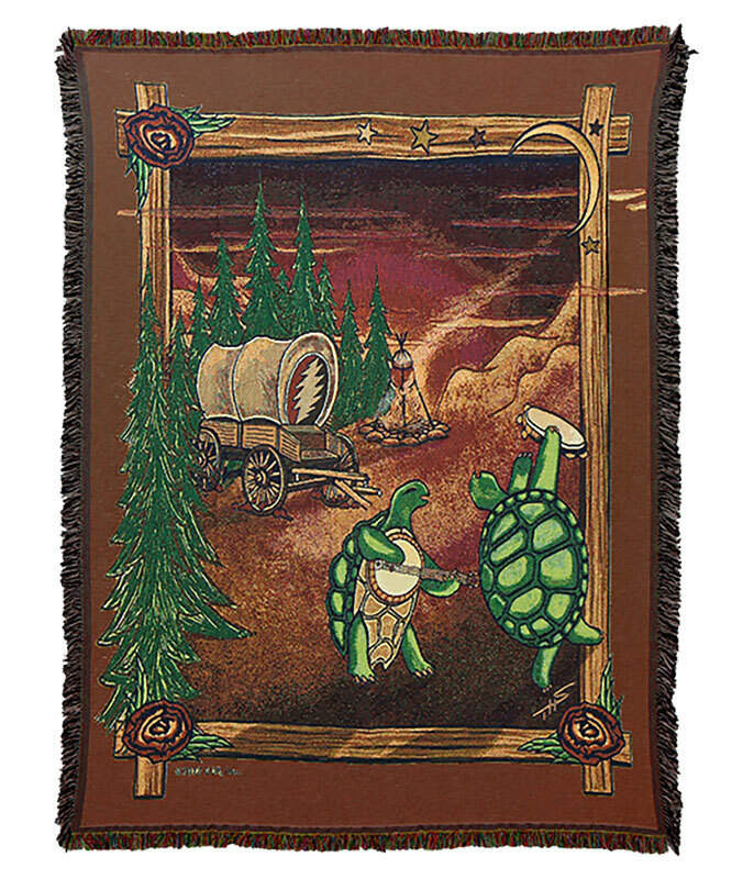 Grateful Dead GD Covered Wagon Woven Blanket